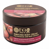Enriched body cream for massage and body shaping